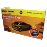 Steelmate PTS800EX Gloss Black Front & Rear Parking Sensors Supply Only