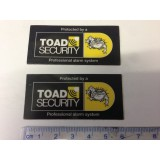 Toad ai606 Car Alarm Window replacement Stickers x 2